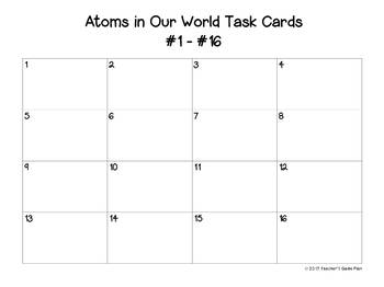 Atoms in our World:  32 Color Task Cards