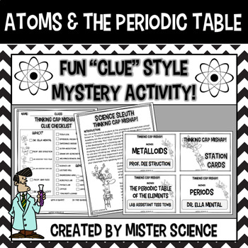 Atoms & periodic table puzzle activity 6 7 8 9th jr high Texas TEKS 8.5A, B, C
