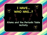 Atoms & the Periodic Table Activity: I Have…Who Has...