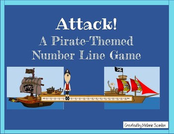 Attack!  Pirate Number Line Game