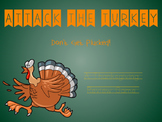 Attack The Turkey: A Thanksgiving Themed Review Game