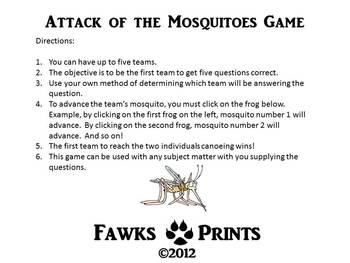 Attack of the Mosquitoes Game