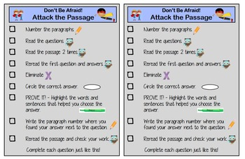 Attack the Passage - Procedures for Reading Success!