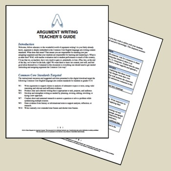Attacking Argument: A CCSS-Aligned Writing Resource and Unit for ELA Teachers