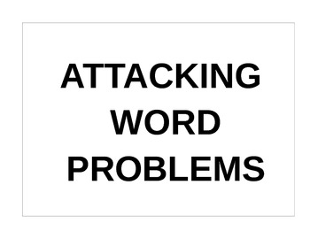 Attacking Word Problem Posters