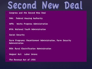 Attacks On The New Deal and The Second New Deal