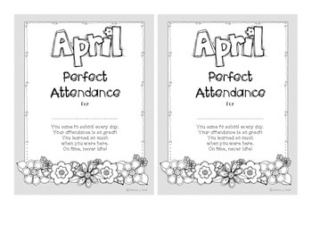 Attendance Award - April