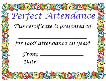 Attendance Award/Certificate