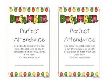 Attendance Award - December