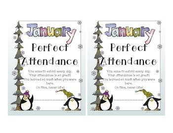 Attendance Award - January