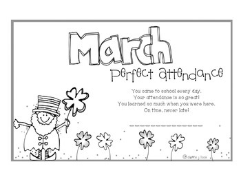 Attendance Award - March