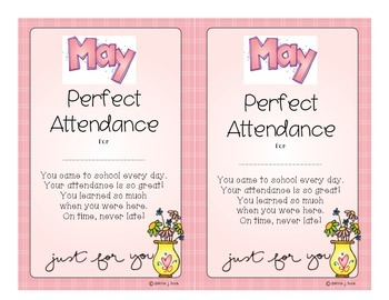Attendance Award - May