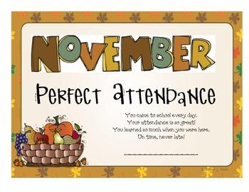 Attendance Award - November
