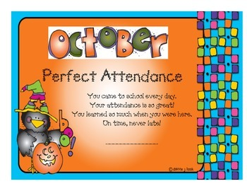Attendance Award - October