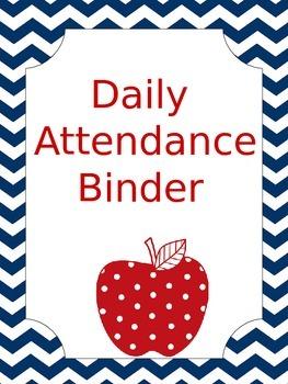 Attendance Binder