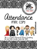 Attendance Binder with Game of Throne Inspired Illustratio