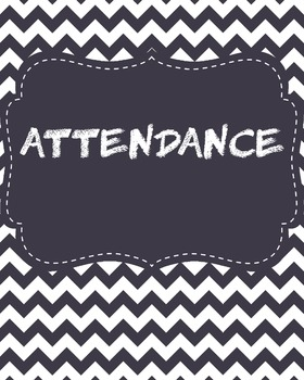Attendance Binder cover