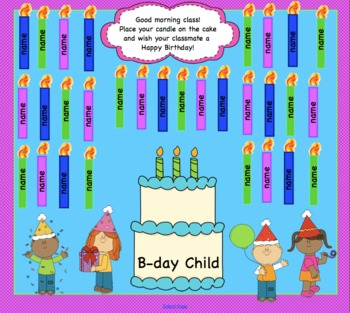 Attendance Birthday Interactive Smartboard Morning