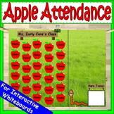 Apples Attendance for Smartboard | Attendance Sheet Editable Attendance Chart