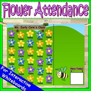Spring Attendance for Smartboard | Attendance Sheet Editable Attendance Chart