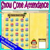 Attendance Chart Snow Cones