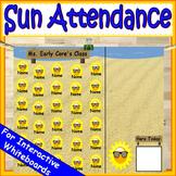 Sun Attendance for Smartboard | Attendance Sheet Editable Attendance Chart