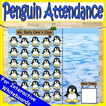 Winter Attendance for Smartboard   Attendance Sheet Editable Attendance Chart