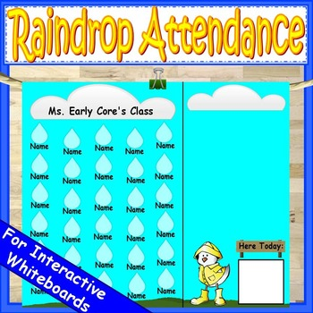 Attendance Chart Raindrops