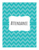 Chevron Attendance Book - 8 Class Periods - Editable in Google Docs