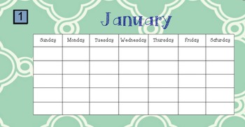 Attendance, Calendar, Weather, & more SmartBoard File (Interactive) August - May