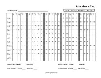 Attendance Calendar (for students)