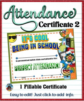 Attendance Certificate 2 {Fillable}
