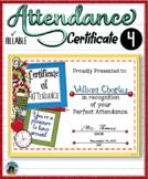 Attendance Certificate 4 {Fillable}