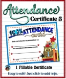 Attendance Certificate 5 {Fillable}