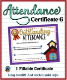 Attendance Certificate 6 {Fillable}