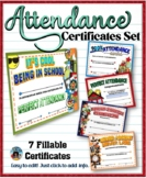 Attendance Certificates Set {Fillable}