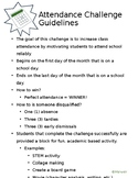 Attendance Challenge FREEBIE