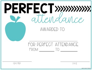 Attendance Challenge {Student Circle Numbers, Certificates, Letter, Tracker}