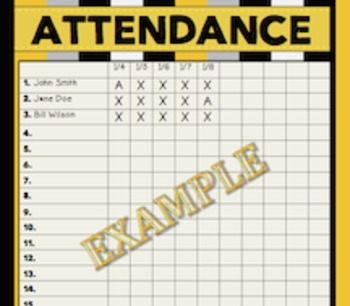Attendance Chart {Black • Gray • Gold}