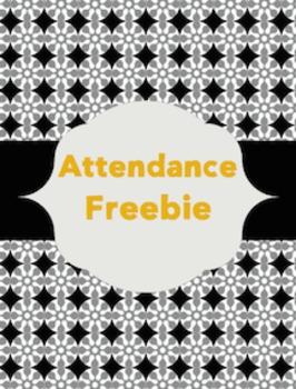 Attendance Chart {Black • Gray • Gold}