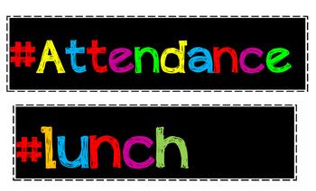 Attendance Chart Hashtag Labels