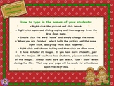Attendance Christmas-Gingerbread Smartboard