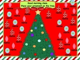 Attendance Christmas Interactive Flipchart for Promethean Board {30 Students}