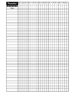 Attendance Class Roster PowerPoint Format