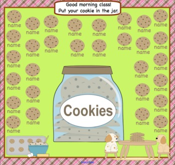 Attendance Cookie Interactive Smartboard Morning