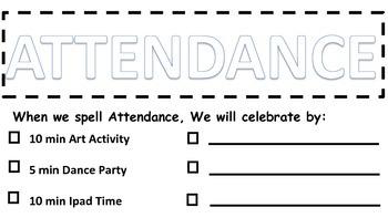 Attendance Data Sheet