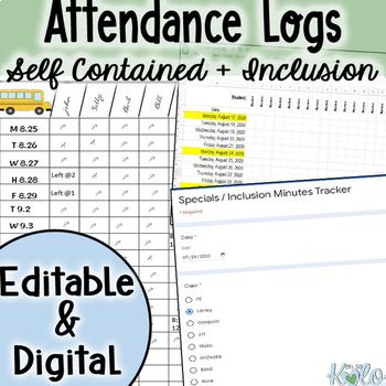 Editable Attendance Data Sheets
