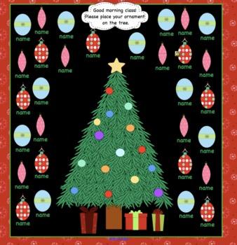 Attendance December Christmas Interactive Smartboard Morning