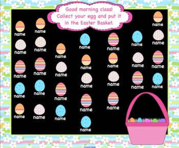 Attendance Easter Interactive Smartboard Morning