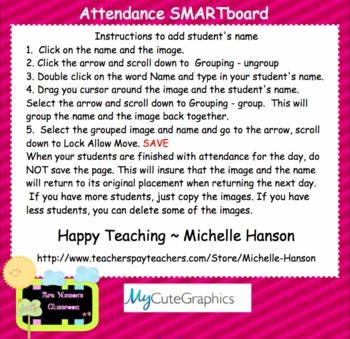 Attendance February  Interactive Smartboard Morning